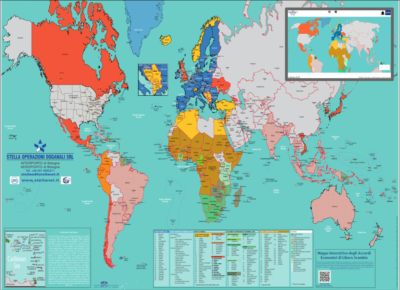 Mondo - Accordi economici di libero scambio