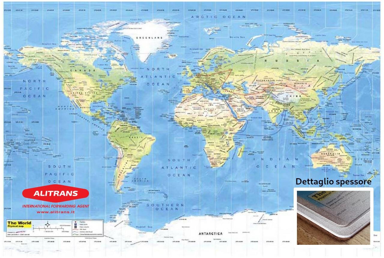 Sottomano geografico mondo mod. Sirio