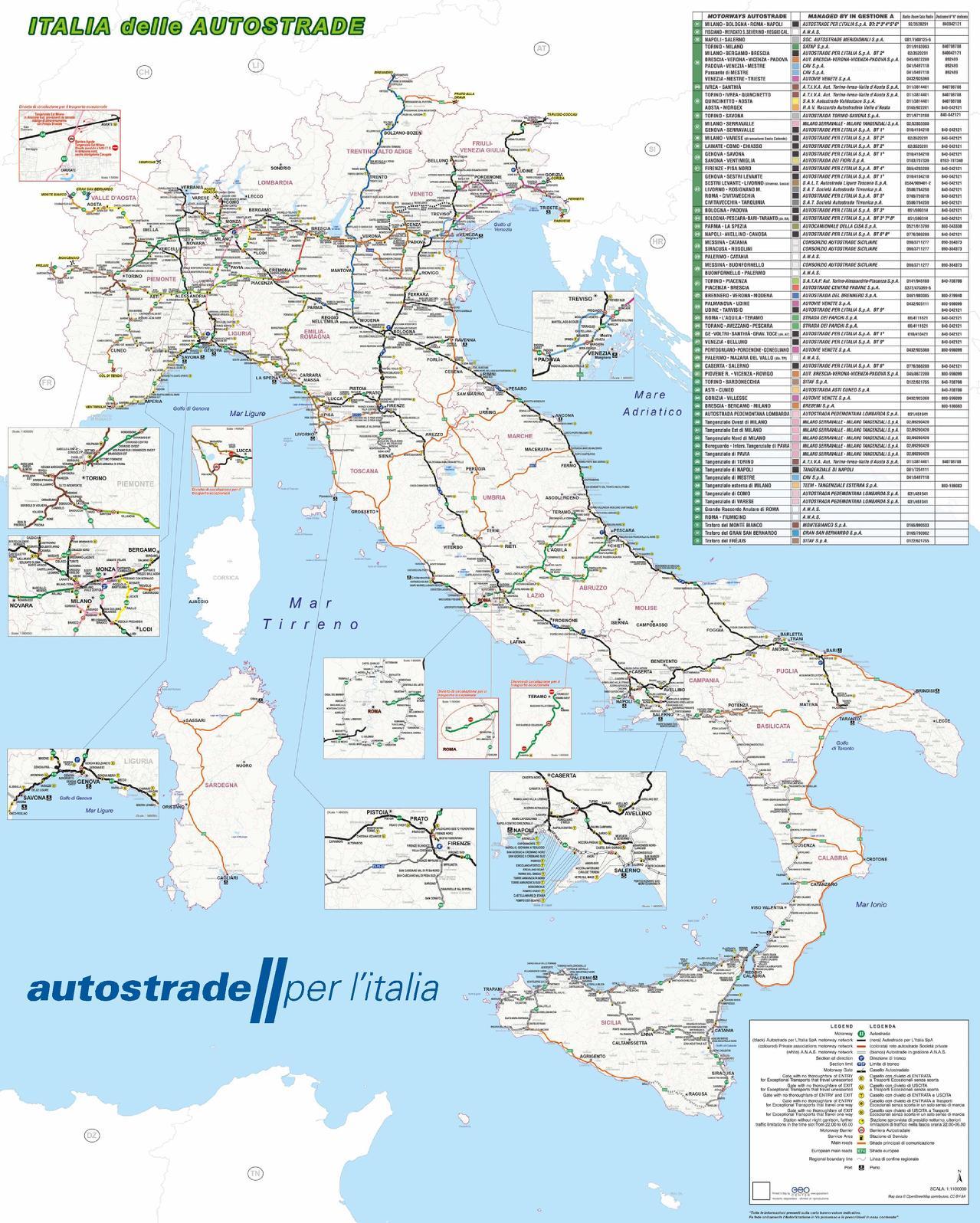 Italia per le autostrade